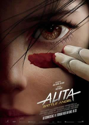 "Film-Plakat zum Film ""Alita: Battle Angel"". Weiter zur Film-Website »"