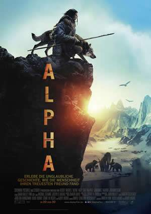 "Film-Plakat zum Film ""Alpha"". Weiter zur Film-Website »"