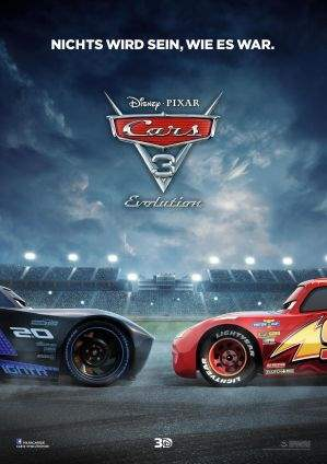 "Film-Plakat zum Film ""Cars 3 - Evolution"". Weiter zur Film-Website »"