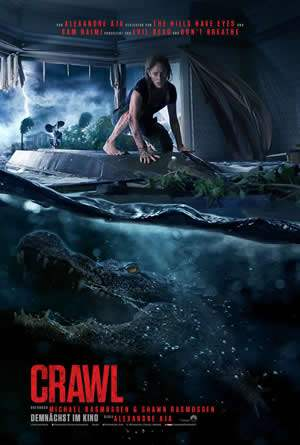 "Film-Plakat zum Film ""Crawl"". Weiter zur Film-Website »"