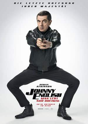 "Film-Plakat zum Film ""Johnny English - Man lebt nur dreimal"". Weiter zur Film-Website »"