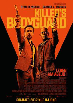 "Film-Plakat zum Film ""Killer's Bodyguard"". Weiter zur Film-Website »"