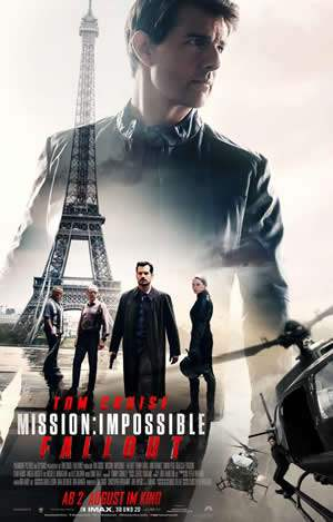 "Film-Plakat zum Film ""Mission: Impossible - Fallout"". Weiter zur Film-Website »"