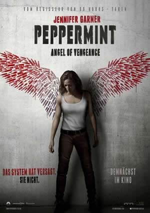 "Film-Plakat zum Film ""Peppermint - Angel of Vengeance"". Weiter zur Film-Website »"