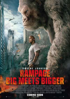 "Film-Plakat zum Film ""Rampage - Big Meets Bigger"". Weiter zur Film-Website »"