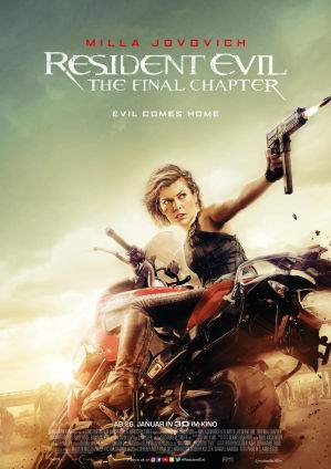 "Film-Plakat zum Film ""Resident Evil: The Final Chapter"". Weiter zur Film-Website »"