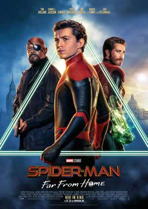 "Film-Plakat zum Film ""Spider-Man: Far From Home"". Weiter zur Film-Website »"