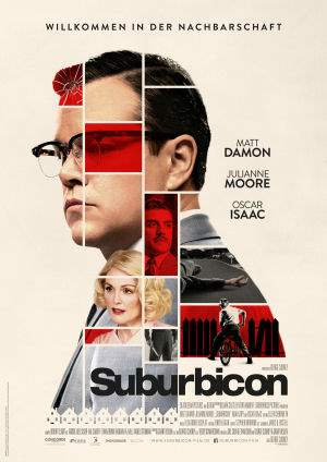"Film-Plakat zum Film ""Suburbicon"". Weiter zur Film-Website »"