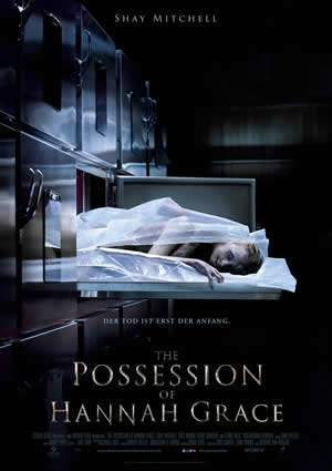 "Film-Plakat zum Film ""The Possession of Hannah Grace"". Weiter zur Film-Website »"